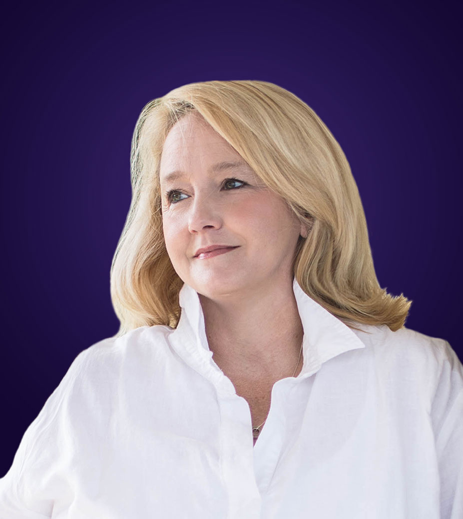 kelli whitt with purple background